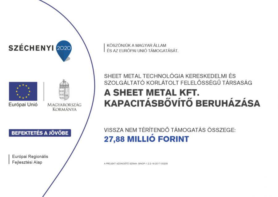 A Sheet Metal Kft. kapacitásbővítő beruházása