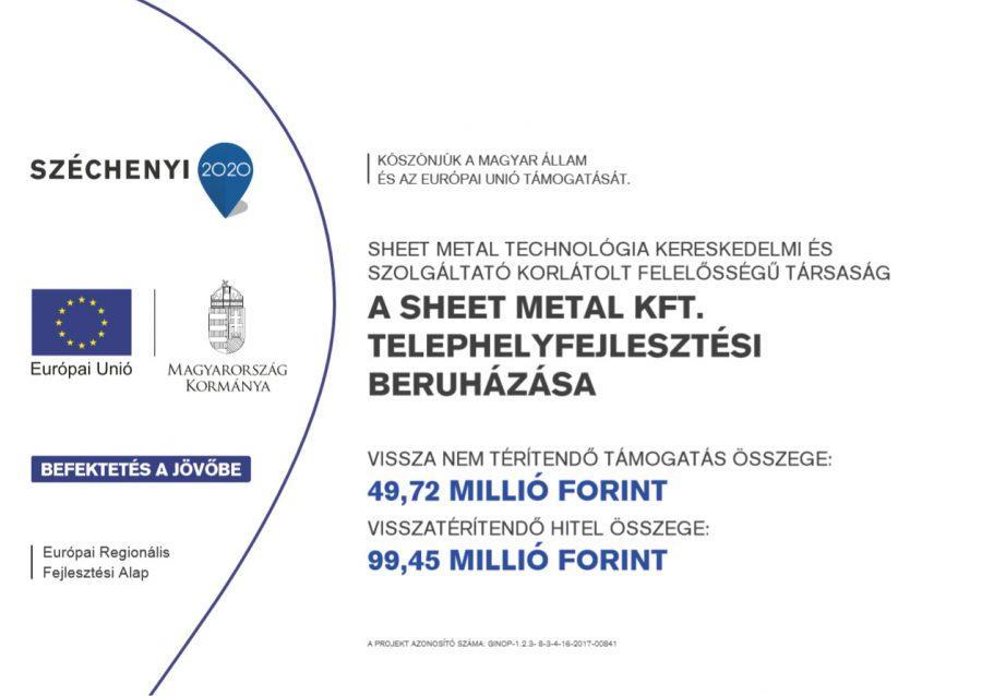 A Sheet Metal Kft. telephelyfejlesztési beruházása
